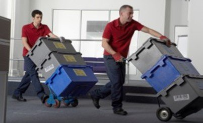 Professional Office Movers Brisbane hard at work image