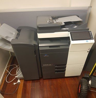 Photocopy machine ready to be moved by Brisbane Removalists image